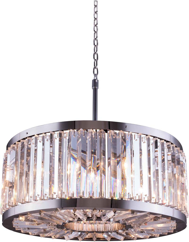 ZC121-1203D28PN-GT/RC By Regency Lighting - Chelsea Collection Polished nickel Finish 8 Lights Pendant Lamp