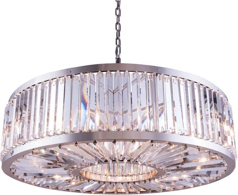 C121-1203G43PN/RC By Elegant Lighting - Chelsea Collection Polished nickel Finish 10 Lights Pendant lamp