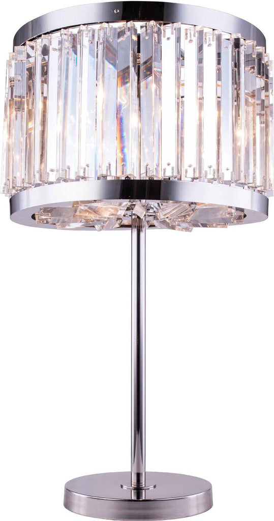 C121-1203TL18PN/RC By Elegant Lighting - Chelsea Collection Polished nickel Finish 4 Lights Table Lamp