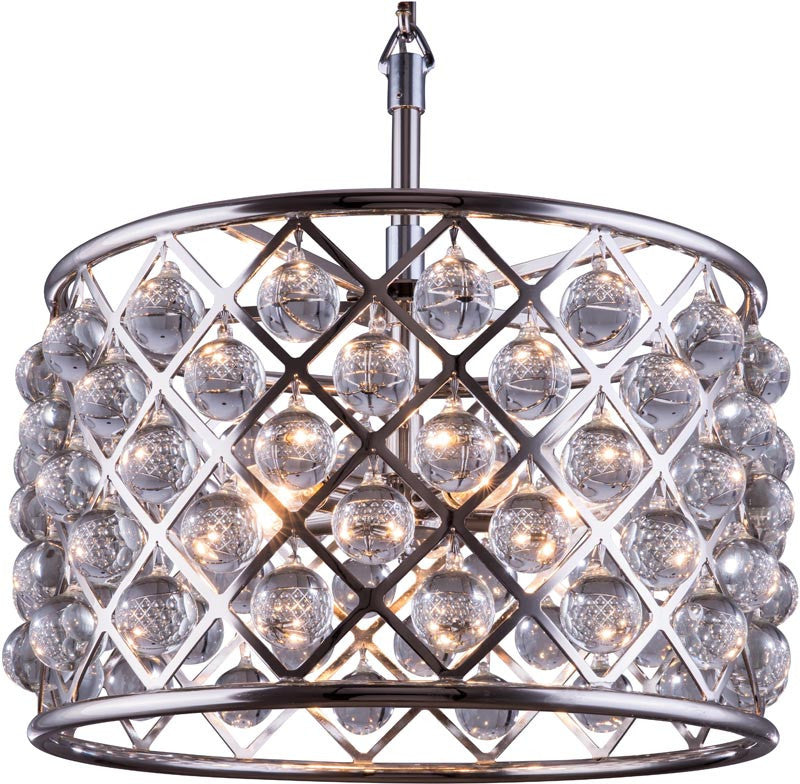 C121-1204D20PN/RC By Elegant Lighting - Madison Collection Polished nickel Finish 6 Lights Pendant lamp
