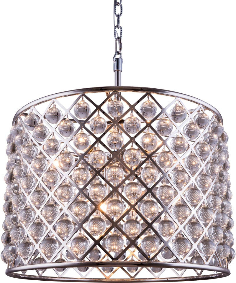 C121-1204D27PN/RC By Elegant Lighting - Madison Collection Polished nickel Finish 8 Lights Pendant lamp