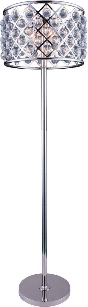C121-1204FL20PN/RC By Elegant Lighting - Madison Collection Polished nickel Finish 4 Lights Floor Lamp