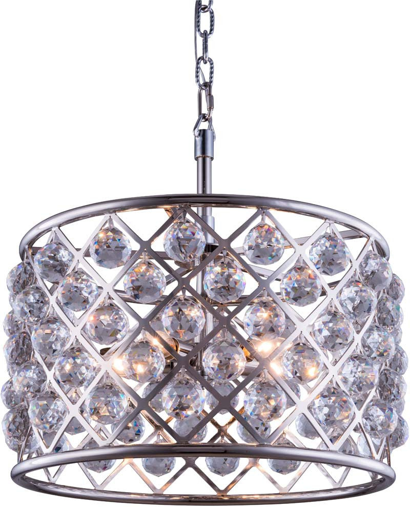 C121-1206D20PN/RC By Elegant Lighting - Madison Collection Polished nickel Finish 6 Lights Pendant lamp