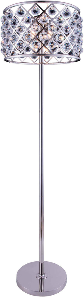 C121-1206FL20PN/RC By Elegant Lighting - Madison Collection Polished nickel Finish 4 Lights Floor Lamp