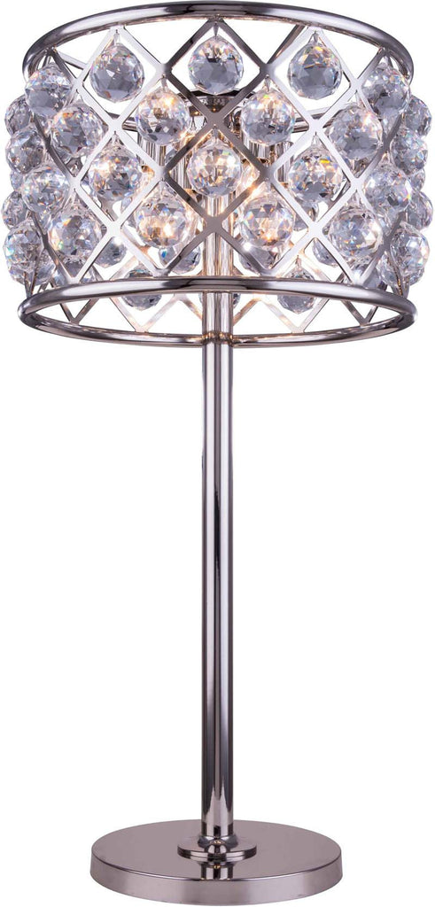 ZC121-1206TL15PN-GT/RC By Regency Lighting - Madison Collection Polished nickel Finish 3 Lights Table Lamp