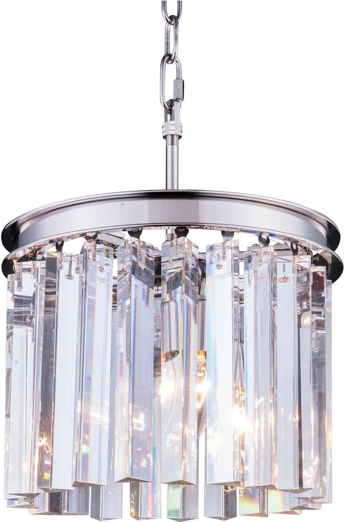 C121-1208D12PN/RC By Elegant Lighting - Sydney Collection Polished nickel Finish 3 Lights Pendant lamp