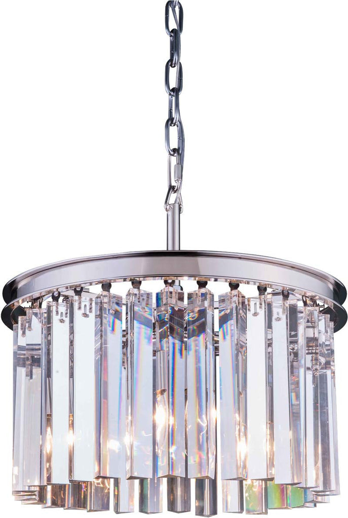 ZC121-1208D16PN-GT/RC By Regency Lighting - Sydney Collection Polished nickel Finish 3 Lights Pendant Lamp