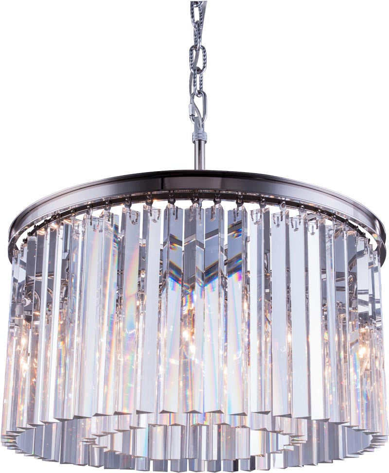 C121-1208D26PN/RC By Elegant Lighting - Sydney Collection Polished nickel Finish 8 Lights Pendant lamp