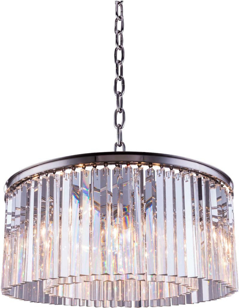 C121-1208D31PN/RC By Elegant Lighting - Sydney Collection Polished nickel Finish 8 Lights Pendant lamp
