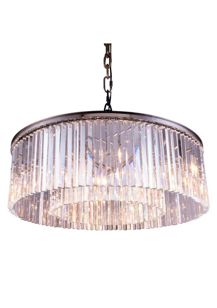 C121-1208G43PN/RC By Elegant Lighting - Sydney Collection Polished nickel Finish 10 Lights Pendant lamp