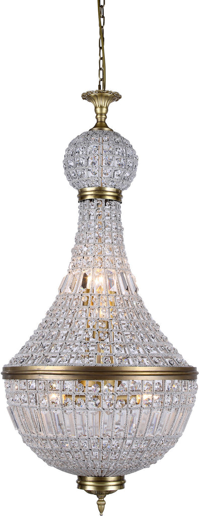 C121-1209D20FG/RC By Elegant Lighting - Stella Collection French Gold Finish 8 Lights Pendant Lamp