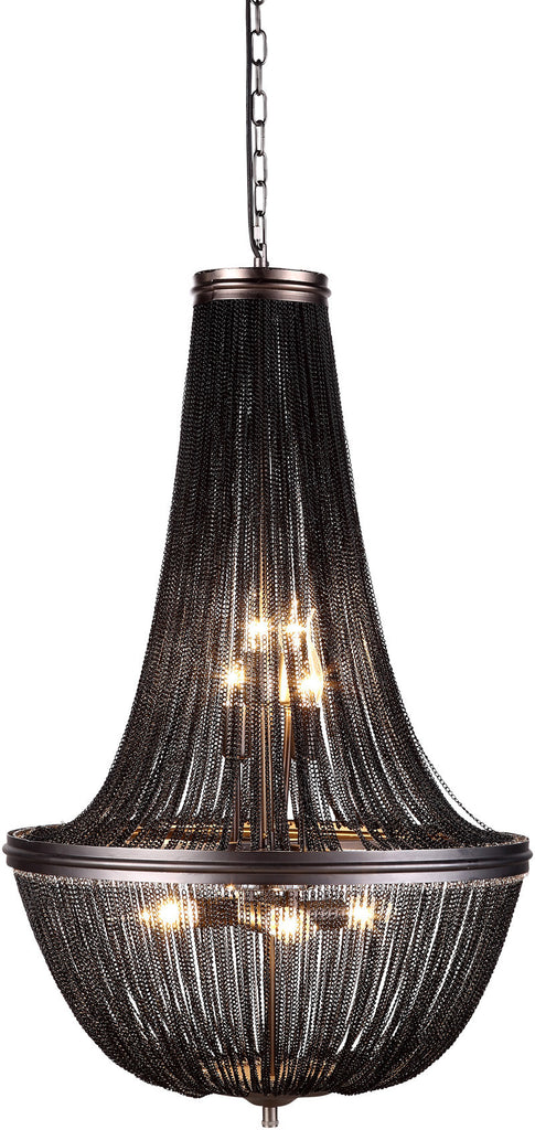 C121-1210D21DG By Elegant Lighting - Paloma Collection Dark Grey Finish 6 Lights Pendant Lamp