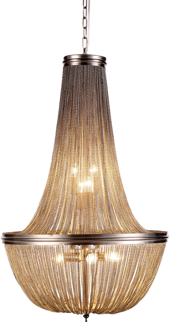 C121-1210D21PW By Elegant Lighting - Paloma Collection Pewter Finish 6 Lights Pendant Lamp