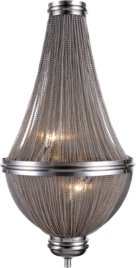 C121-1210W13PW By Elegant Lighting - Paloma Collection Pewter Finish 3 Lights Wall Sconce