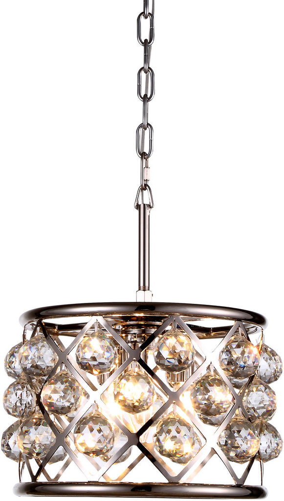 ZC121-1214D12PN-GT/RC By Regency Lighting - Madison Collection Polished Nickel Finish 3 Lights Pendant Lamp
