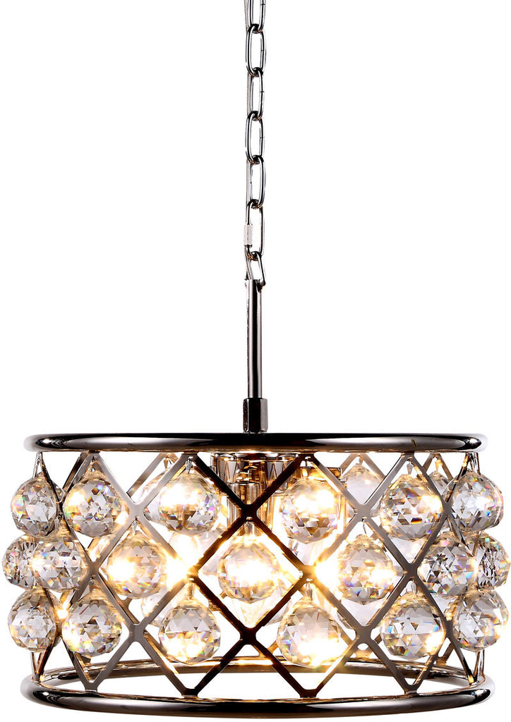 C121-1214D16PN/RC By Elegant Lighting - Madison Collection Polished Nickel Finish 4 Lights Pendant Lamp