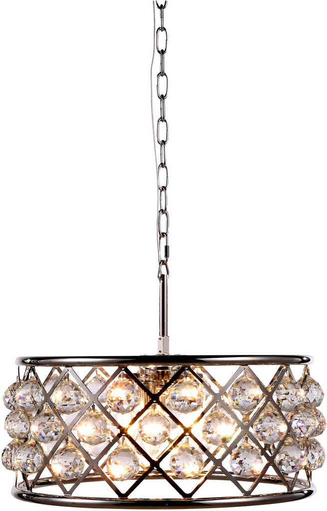 C121-1214D20PN/RC By Elegant Lighting - Madison Collection Polished Nickel Finish 5 Lights Pendant Lamp