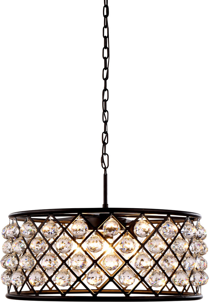 ZC121-1214D25MB-GT/RC By Regency Lighting - Madison Collection Mocha Brown Finish 6 Lights Pendant Lamp