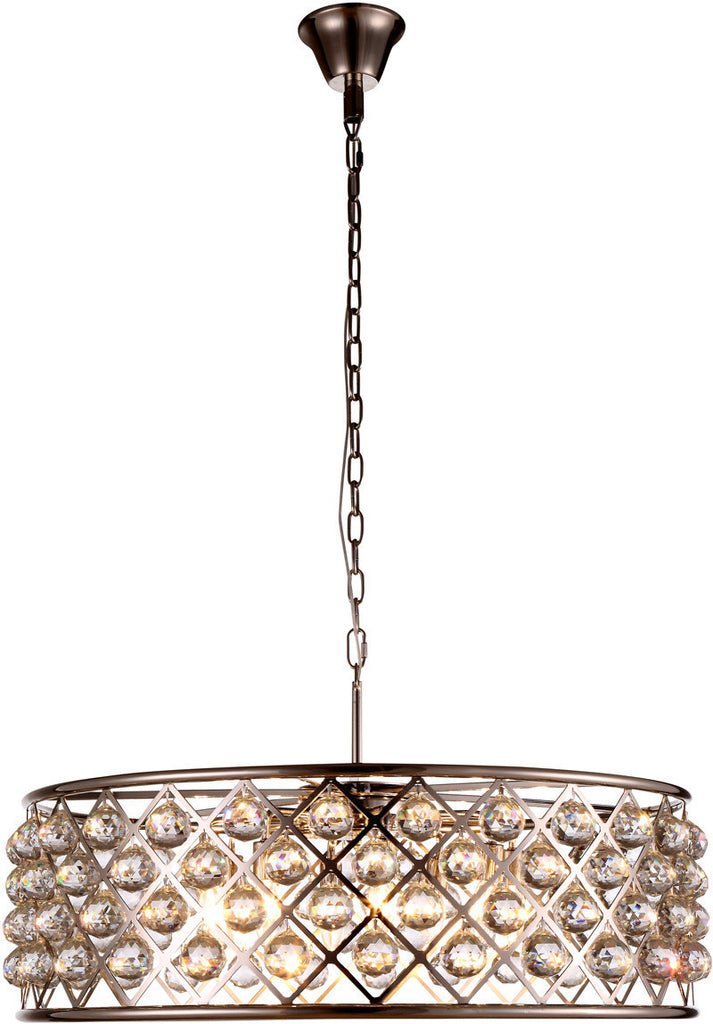 C121-1214D32PN/RC By Elegant Lighting - Madison Collection Polished Nickel Finish 8 Lights Pendant Lamp