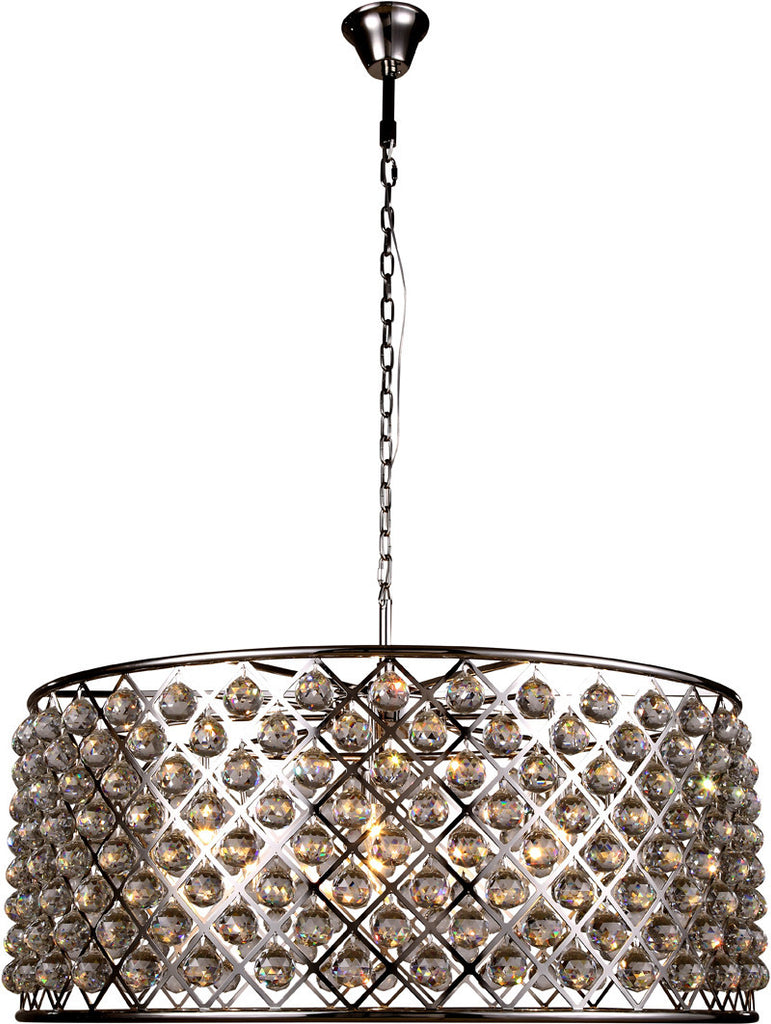 C121-1214G43PN/RC By Elegant Lighting - Madison Collection Polished Nickel Finish 10 Lights Pendant Lamp