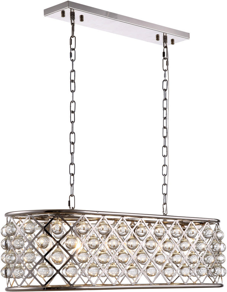 C121-1215G40PN/RC By Elegant Lighting - Madison Collection Polished Nickel Finish 6 Lights Pendant Lamp