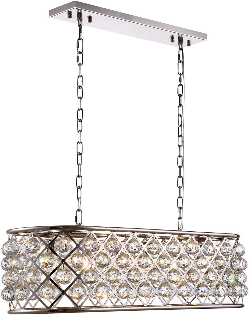 ZC121-1216G40PN-GT/RC By Regency Lighting - Madison Collection Polished Nickel Finish 6 Lights Pendant Lamp