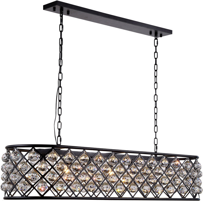 ZC121-1216G50MB-GT/RC By Regency Lighting - Madison Collection Mocha Brown Finish 7 Lights Pendant Lamp