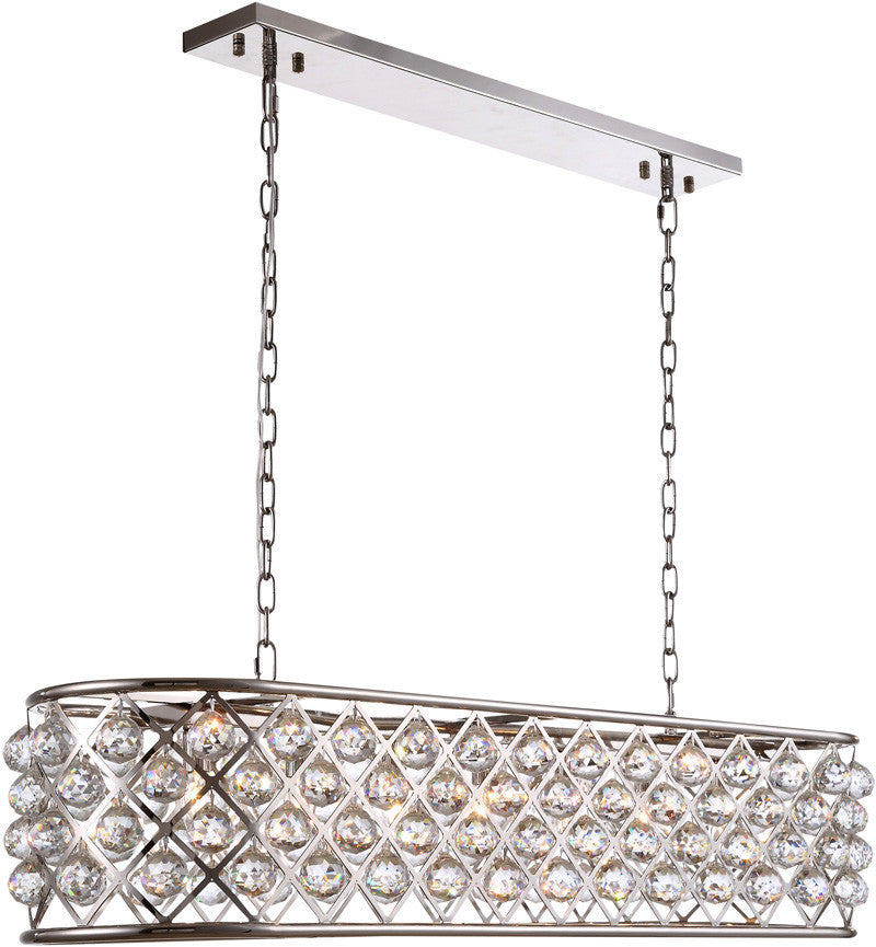 C121-1216G50PN/RC By Elegant Lighting - Madison Collection Polished Nickel Finish 7 Lights Pendant Lamp