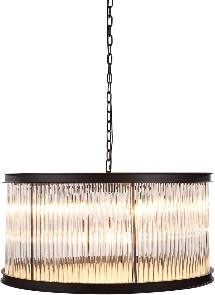 C121-1217D32MB By Elegant Lighting - Royale Collection Mocha Brown Finish 9 Lights Pendant Lamp