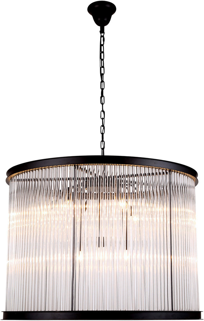 C121-1217D35MB By Elegant Lighting - Royale Collection Mocha Brown Finish 9 Lights Pendant Lamp