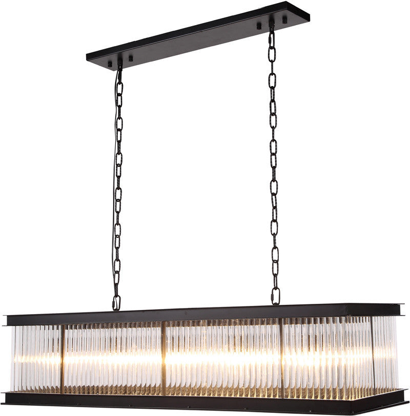 C121-1218G50MB By Elegant Lighting - Royale Collection Mocha Brown Finish 10 Lights Pendant Lamp