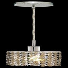 C121-1281D-R-E-GT/RC By Elegant Lighting Mini Collection 1 Lights Pendant Chrome Finish