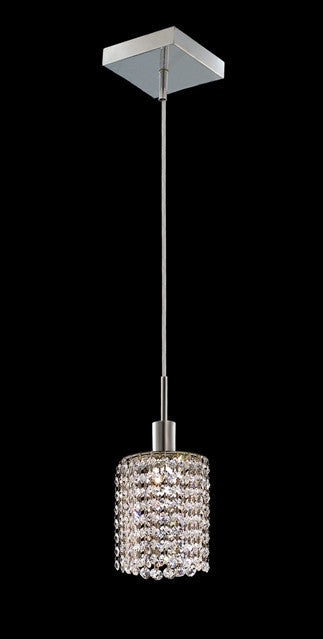 C121-1281D-S-R-CL/RC By Elegant Lighting Mini Collection 1 Lights Pendant Chrome Finish