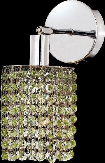 C121-1281W-R-E-LP/RC By Elegant Lighting Mini Collection 1 Lights Wall Sconce Chrome Finish