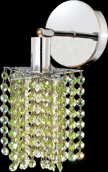 C121-1281W-R-P-GT/RC By Elegant Lighting Mini Collection 1 Lights Wall Sconce Chrome Finish