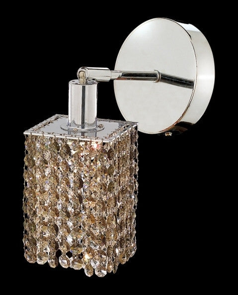 C121-1281W-R-S-GT/RC By Elegant Lighting Mini Collection 1 Lights Wall Sconce Chrome Finish