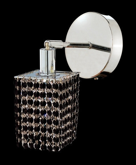 C121-1281W-R-S-JT/RC By Elegant Lighting Mini Collection 1 Lights Wall Sconce Chrome Finish