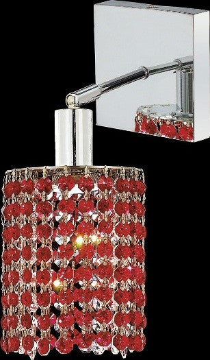C121-1281W-S-E-BO/RC By Elegant Lighting Mini Collection 1 Lights Wall Sconce Chrome Finish
