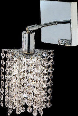 ZC121-1281W-S-P-CL/EC By Regency Lighting Mini Collection 1 Lights Wall Sconce Chrome Finish