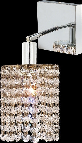 ZC121-1281W-S-R-CL/EC By Regency Lighting Mini Collection 1 Lights Wall Sconce Chrome Finish
