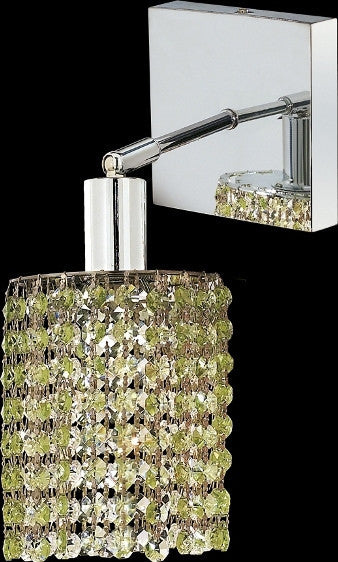 C121-1281W-S-R-LP/RC By Elegant Lighting Mini Collection 1 Lights Wall Sconce Chrome Finish