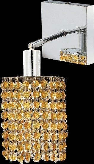 C121-1281W-S-R-LT/RC By Elegant Lighting Mini Collection 1 Lights Wall Sconce Chrome Finish