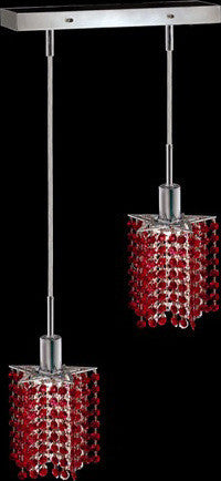 C121-1282D-O-P-BO/RC By Elegant Lighting Mini Collection 2 Lights Pendant Chrome Finish