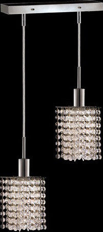 C121-1282D-O-P-CL/RC By Elegant Lighting Mini Collection 2 Lights Pendant Chrome Finish