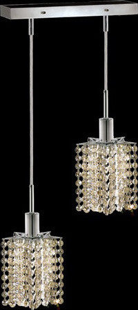 C121-1282D-O-P-GT/RC By Elegant Lighting Mini Collection 2 Lights Pendant Chrome Finish