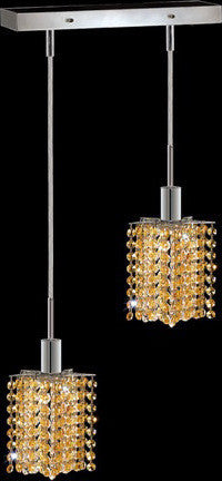 C121-1282D-O-P-LT/RC By Elegant Lighting Mini Collection 2 Lights Pendant Chrome Finish