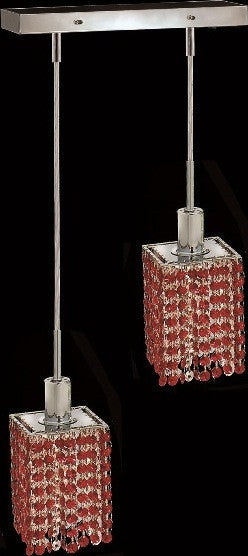 C121-1282D-O-S-BO/RC By Elegant Lighting Mini Collection 2 Lights Pendant Chrome Finish