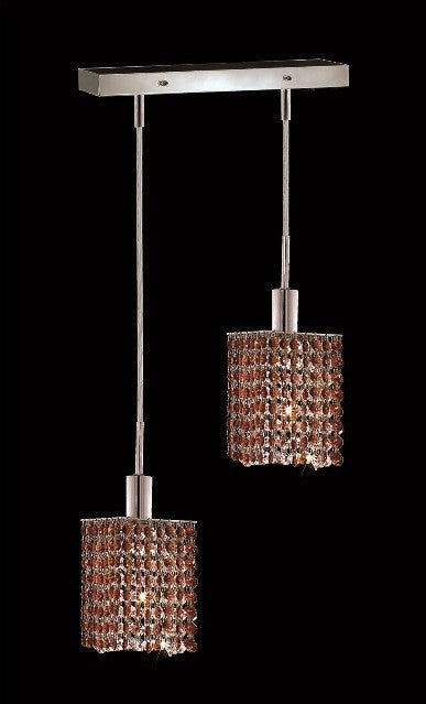 C121-1282D-O-S-TO/RC By Elegant Lighting Mini Collection 2 Lights Pendant Chrome Finish