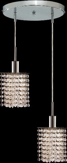 C121-1282D-R-P-CL/RC By Elegant Lighting Mini Collection 2 Lights Pendant Chrome Finish