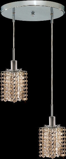 C121-1282D-R-P-GT/RC By Elegant Lighting Mini Collection 2 Lights Pendant Chrome Finish